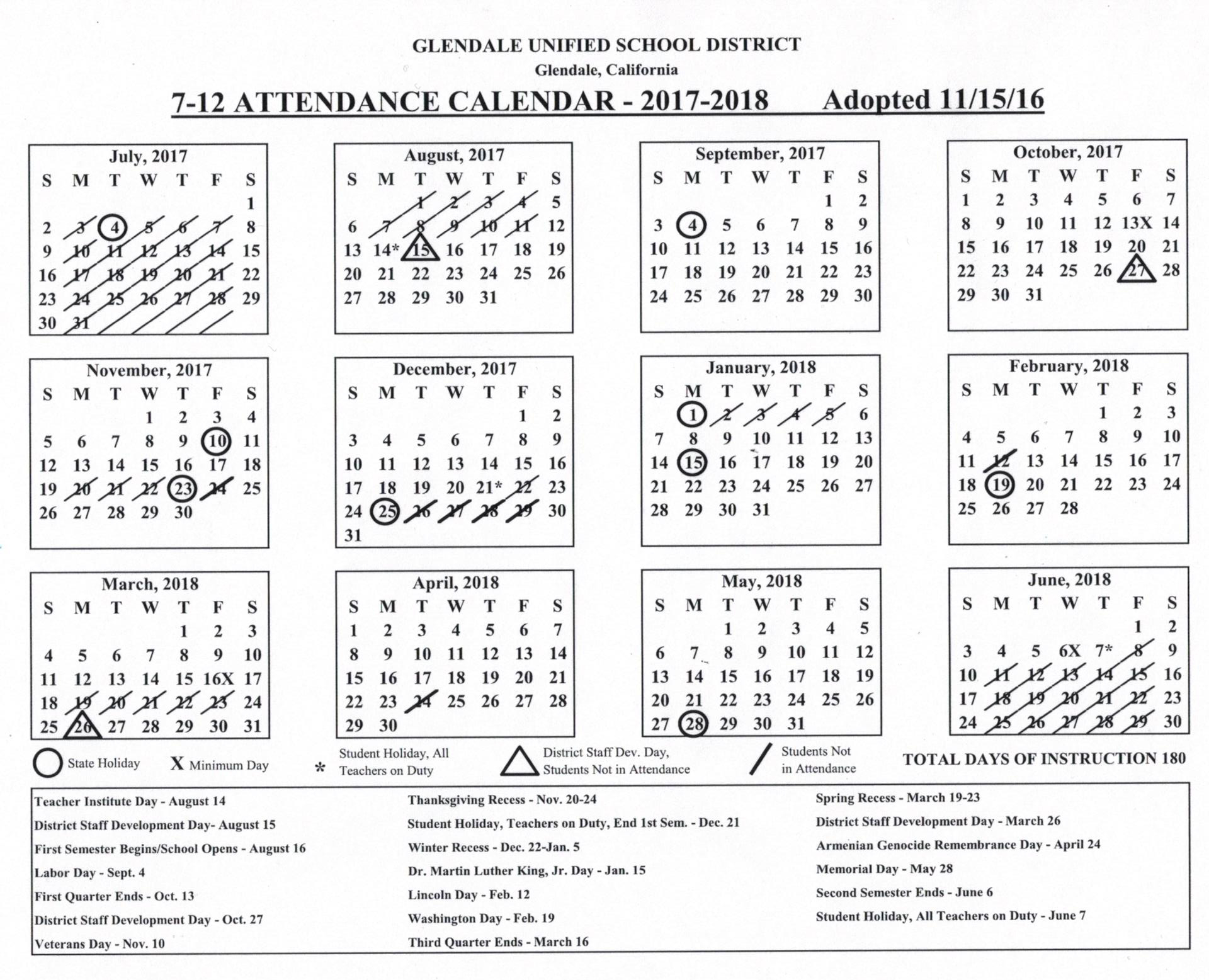 Calendar revision finalized