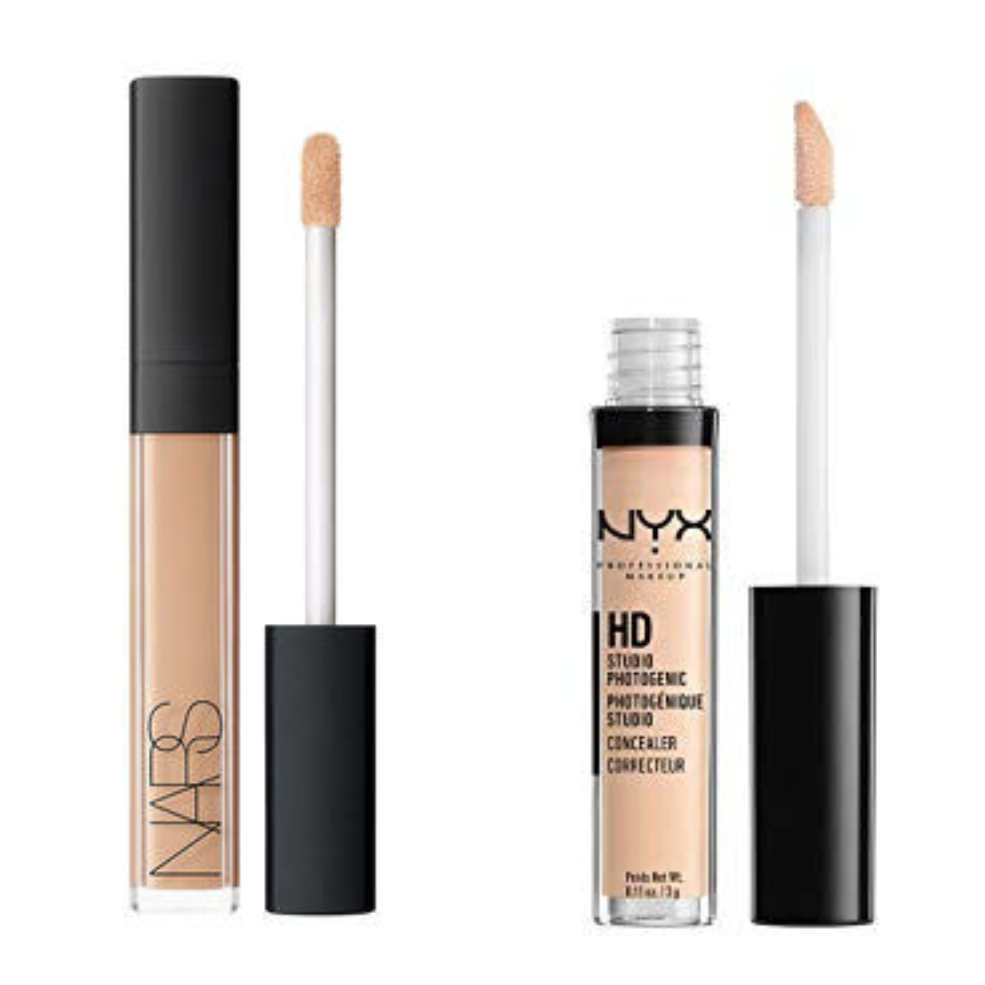 Nars Radiant Creamy Concealer vs Nyx Cant Stop Won't Stop Contour Concealer