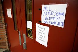 All in-person school activities paused