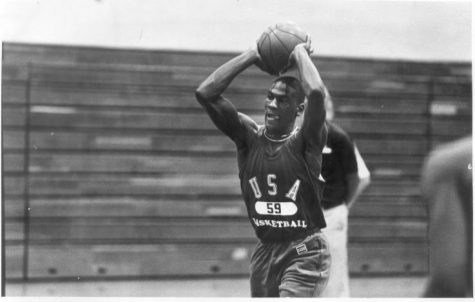 Michael Jordan and the 1984 Olympic mens basketball team practiced in the Hoover gym.